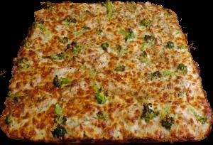 Full Broccoli Chicken Pizza