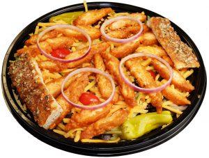 Buffalo Chicken Salad with Breadsticks