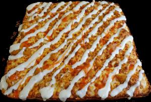 Full Chicken Finger Pizza