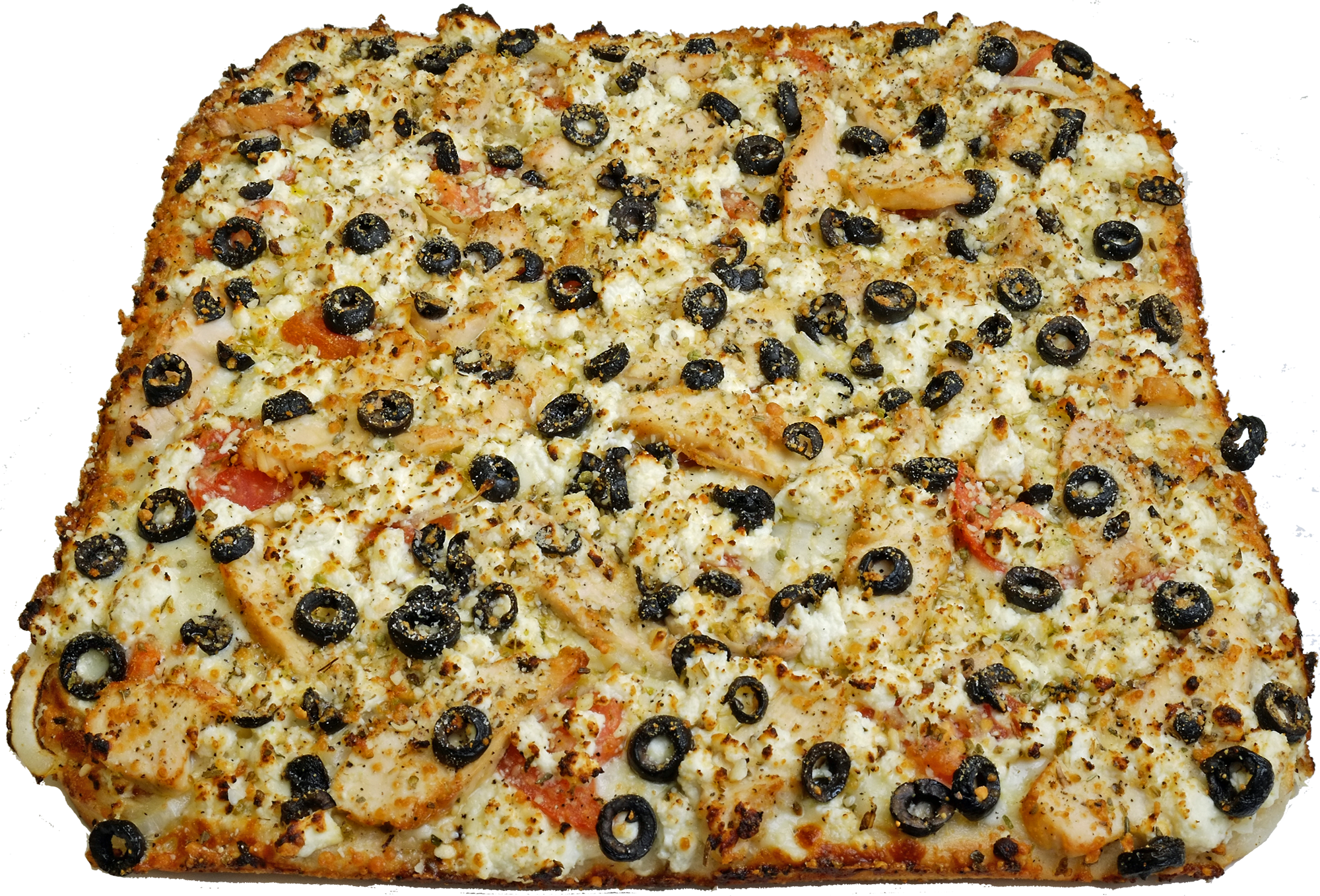 Full Greek Chicken Pizza