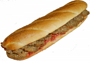 12 Inch Meatball Parmesan Sub